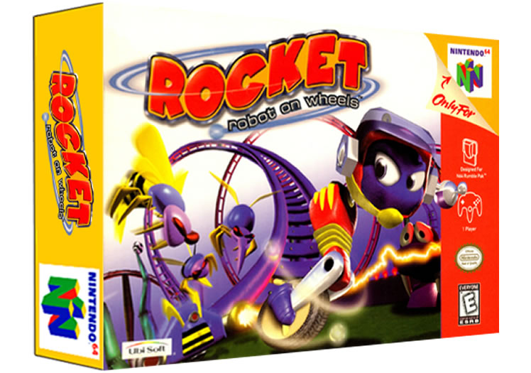 Rocket -  Robot on Wheels - Nintendo 64
